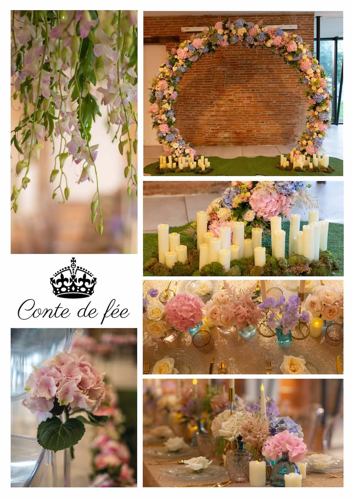 Mariage fleuri conte de fée