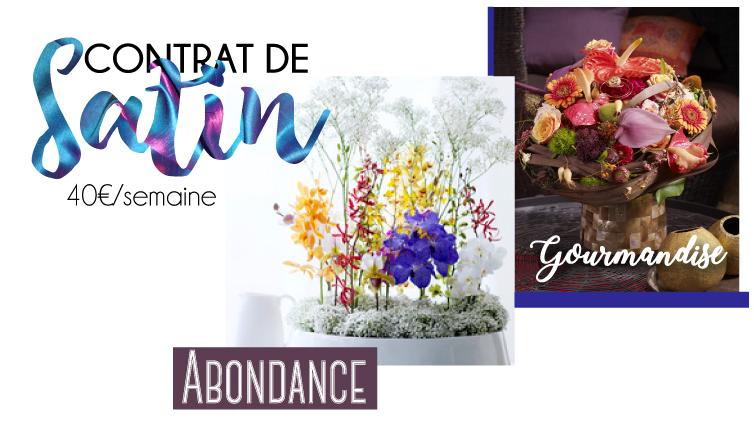 Abonnement floral pour les professionnels - Contrat de satin