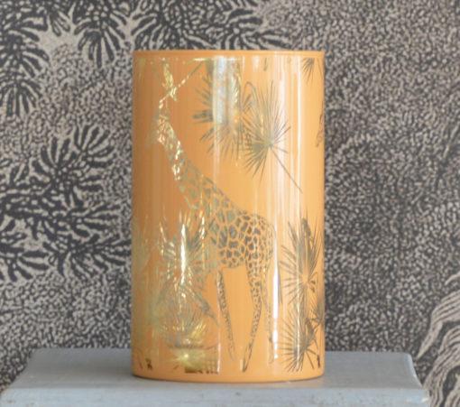 Vase girafe miel