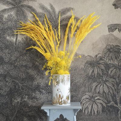 Vase Perroquet blanc