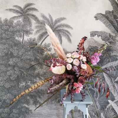 Bouquet de fleurs fraîches spécial Noël