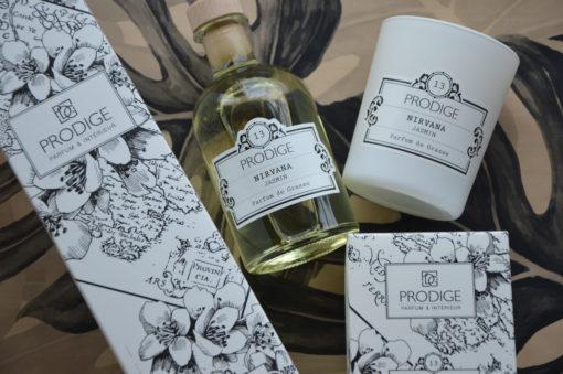 Bougie et diffuseur de parfum Prodige senteur Jasmin.