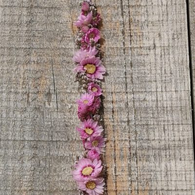 Bracelet de fleurs séchées