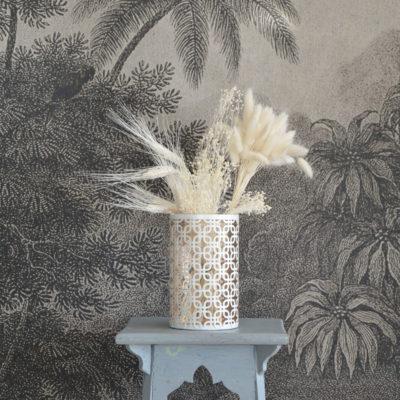 Vase ajouré blanc